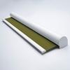 Afbeelding van Rolgordijn met luxe cassette rond - Olijfgroen donker Semi transparant