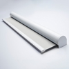 Afbeelding van Rolgordijn met luxe cassette rond - Stoer wit Semi transparant