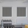 Afbeelding van Rolgordijn met luxe cassette rond - Donker grijs gemeleerd Semi transparant