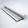 Afbeelding van Rolgordijn met luxe cassette rond - Zilver grijs Semi transparant