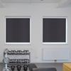 Afbeelding van Rolgordijn met luxe cassette rond - Antraciet grijs Semi transparant