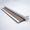 Afbeelding van Rolgordijn met luxe cassette rond - Taupe donkergrijs Semi transparant