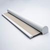 Afbeelding van Rolgordijn met luxe cassette rond - Taupe-grijs Semi transparant