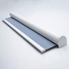 Afbeelding van Rolgordijn met luxe cassette rond - Licht blauw macaron Semi transparant