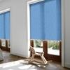 Afbeelding van Rolgordijn met luxe cassette rond - Licht blauw verticaal gemeleerd Semi transparant