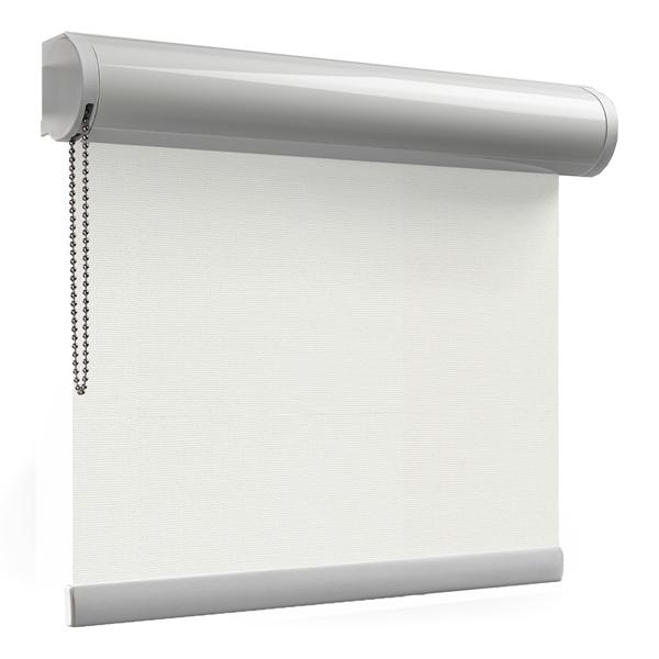 Afbeelding van Rolgordijn met luxe cassette rond - Beige grijs Semi transparant