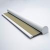 Afbeelding van Verano rolgordijn cassette rond - Glans goud beige met streep Transparant