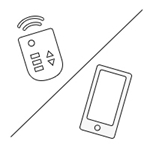 Draadloos (afstandbediening/app)
