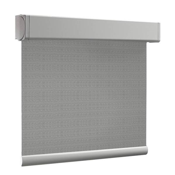 Afbeelding van Rolgordijn op maat XL Cassette vierkant - Trendy grijs Verduisterend