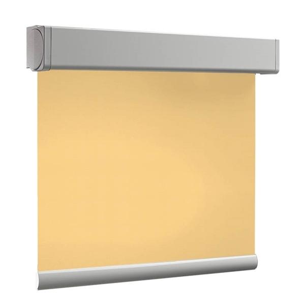 Afbeelding van Rolgordijn op maat XL Cassette vierkant - Geel donker chiquita Verduisterend