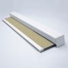 Afbeelding van Rolgordijn XL luxe cassette vierkant - Canvas beige Semi transparant