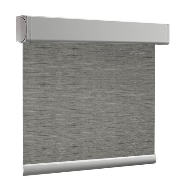 Afbeelding van Rolgordijn XL luxe cassette vierkant - Modern grijs bruin small Semi transparant