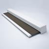 Afbeelding van Rolgordijn XL luxe cassette vierkant - Ouderwets bruin Semi transparant