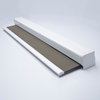 Afbeelding van Rolgordijn XL luxe cassette vierkant - Antraciet Grijsbruin Semi transparant