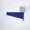 Afbeelding van Rolgordijn XL luxe cassette vierkant - Blauw paars Semi transparant