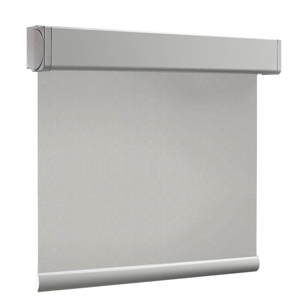 Afbeelding van Rolgordijn XL luxe cassette vierkant - Silver grey Semi transparant