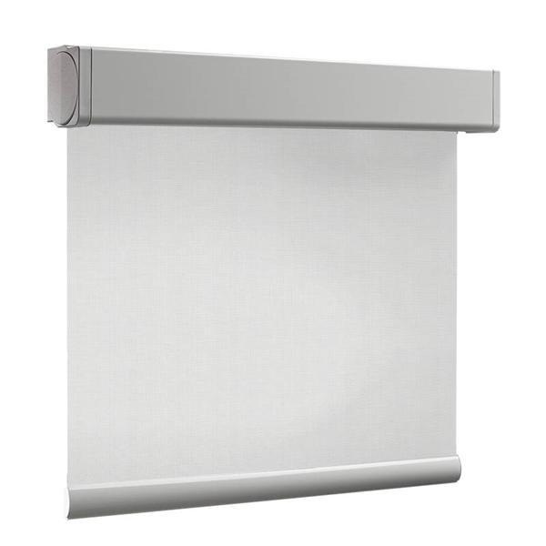 Afbeelding van Rolgordijn XL luxe cassette vierkant - Zilver wit Semi transparant