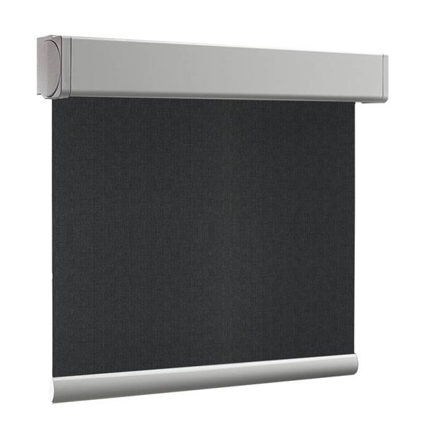 Afbeelding van Rolgordijn XL luxe cassette vierkant - Zwart vintage Semi transparant