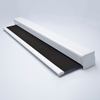 Afbeelding van Rolgordijn XL luxe cassette vierkant - Antraciet donker Semi transparant