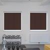 Afbeelding van Rolgordijn XL luxe cassette vierkant - Donkerbruin espresso Semi transparant