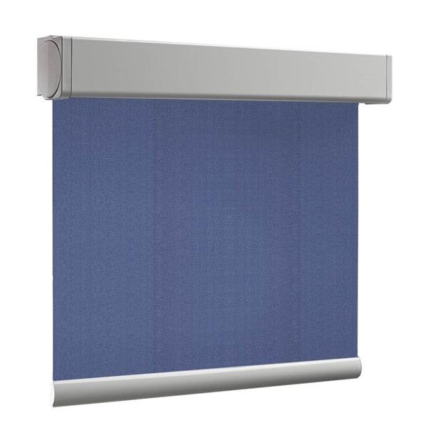 Afbeelding van Rolgordijn XL luxe cassette vierkant - Blauw nacht Semi transparant