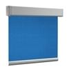 Afbeelding van Rolgordijn XL luxe cassette vierkant - Donkerblauw 70's look Semi transparant