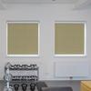 Afbeelding van Rolgordijn brede ramen Cassette vierkant - Glans goud beige met streep Transparant