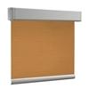 Afbeelding van Rolgordijn brede ramen Cassette vierkant - Glans oranje brons met streep Transparant