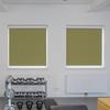 Afbeelding van Rolgordijn brede ramen Cassette vierkant - Glans olijfgroen Transparant