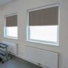 Afbeelding van Rolgordijn brede ramen Cassette vierkant - Luxe bruin  gemeleerd Transparant