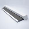 Afbeelding van Rolgordijn brede ramen Cassette vierkant - Luxe donkergrijs  gemeleerd Transparant