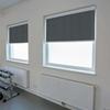 Afbeelding van Rolgordijn brede ramen Cassette vierkant - Luxe zwart wit Transparant