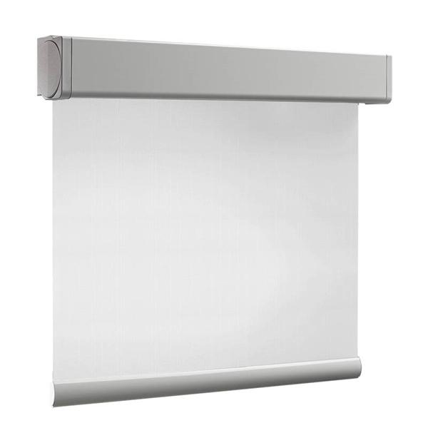 Afbeelding van Rolgordijn brede ramen Cassette vierkant - Vitrage wit Transparant