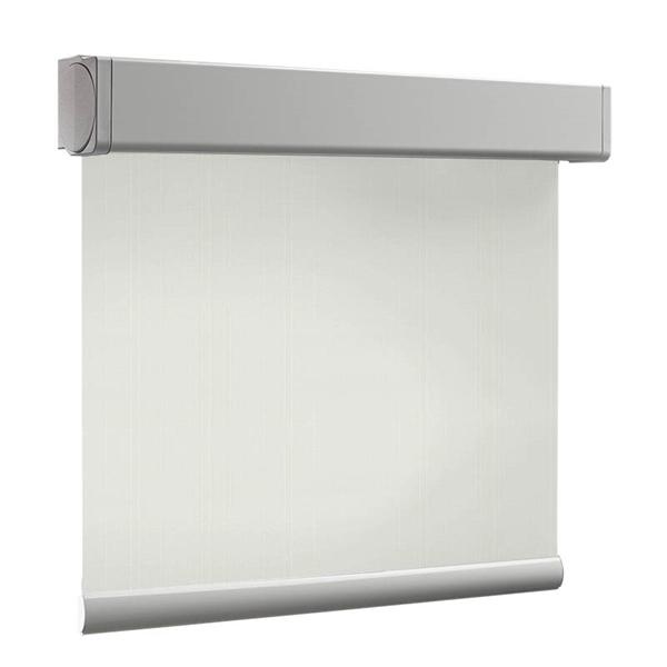 Afbeelding van Rolgordijn brede ramen Cassette vierkant - Crème Transparant