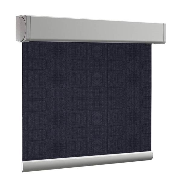Afbeelding van Rolgordijn brede ramen Cassette vierkant - Nacht blauw transparant Transparant