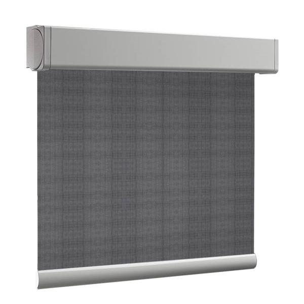 Afbeelding van Rolgordijn brede ramen Cassette vierkant - Zilvergrijs Transparant