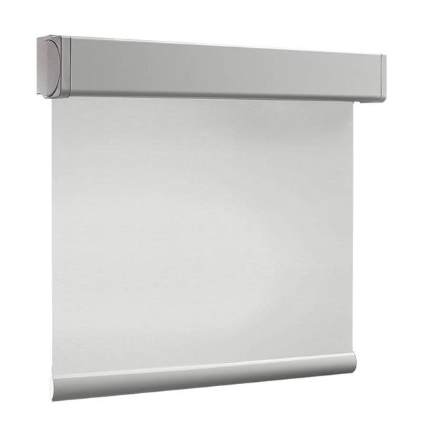 Afbeelding van Rolgordijn brede ramen Cassette vierkant - Wit zand Transparant