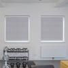 Afbeelding van Rolgordijn brede ramen Cassette vierkant - Lichtgrijs turqoise Transparant