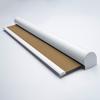 Afbeelding van Rolgordijn op maat XL cassette rond - Glimmend goud olijfgroen Verduisterend