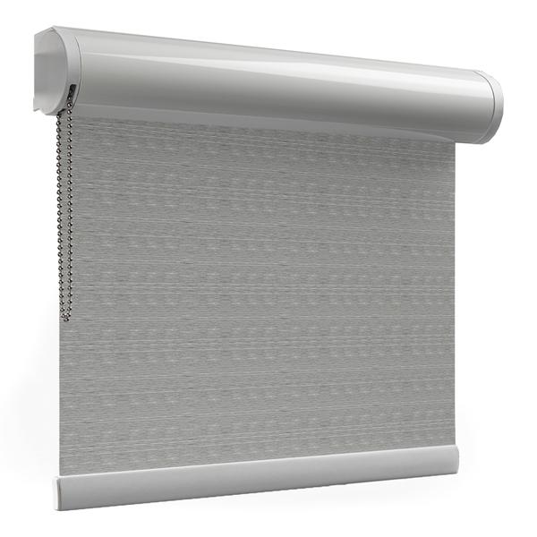 Afbeelding van Rolgordijn op maat XL cassette rond - Trendy grijs Verduisterend