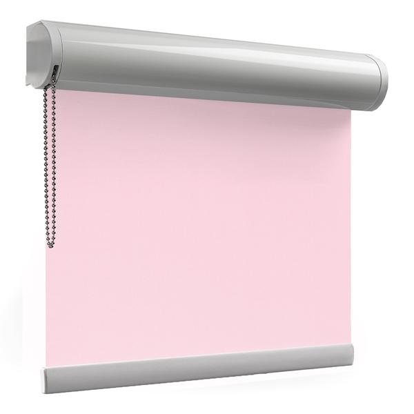 Afbeelding van Rolgordijn op maat XL cassette rond - Roze licht macaron Verduisterend