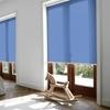 Afbeelding van Rolgordijn op maat XL cassette rond - Blauw azuur Verduisterend