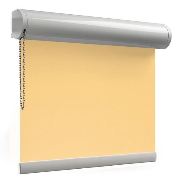 Afbeelding van Rolgordijn op maat XL cassette rond - Geel donker chiquita Verduisterend