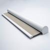 Afbeelding van Rolgordijn XL luxe cassette rond - Zand gemeleerd Semi transparant