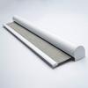 Afbeelding van Rolgordijn XL luxe cassette rond - Beige bruin gemeleerd Semi transparant