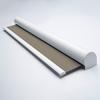 Afbeelding van Rolgordijn XL luxe cassette rond - Bruin tweed Semi transparant