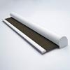 Afbeelding van Rolgordijn XL luxe cassette rond - Gemeleerd bruin geweven Semi transparant