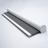 Afbeelding van Rolgordijn XL luxe cassette rond - Retro grijs Semi transparant