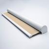 Afbeelding van Rolgordijn XL luxe cassette rond - Creme donkerbeige Semi transparant