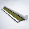Afbeelding van Rolgordijn XL luxe cassette rond - Olijfgroen donker Semi transparant